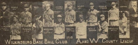1910 WILKINSBURG BASEBALL CHAMPS